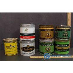 (4) Ogden's, Troost, Clubman & Sweet Coporal Tobacco Tins