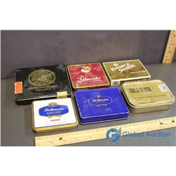 (2) Rothman's, Ritmeester, MacDonald, Gold Block, and Olinda Cigarette Tins