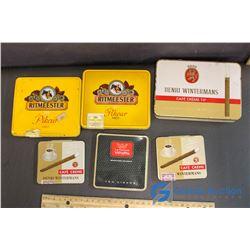 (3) Wintermans, (2) Ritmeester, & La Corona Cigarette Tins