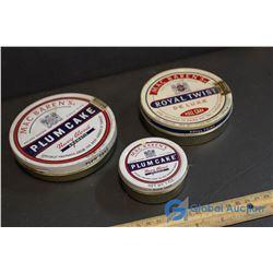 (3) Mac Baren's Tobacco Tins