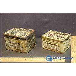 (2) Sentator Tobacco Tins