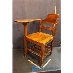 Vintage Wooden School Desk