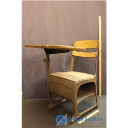 Vintage Wooden and Metal Childs Desk