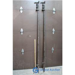 (2) Metal Bar Clamps 7 Ft Long