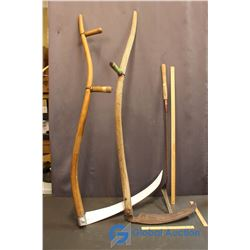 2 Scythes and Grass Whip