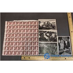 WWII Hitler Postcards and Stamps