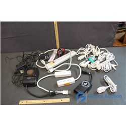 Timer, Extention Cords, Power Bars, Power Cables, etc.