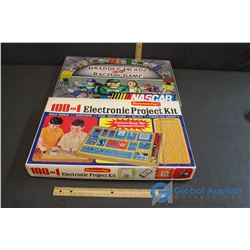 "Vintage ""Science Fair Electronic Project Kit"" & ""Griddley Heads Racing Game"" Board Game"