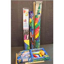 Assortment of Outdoor Toys & (3) Kites