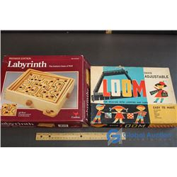 Davis Adjustable Loom & Premiere Edition Labyrinth Game