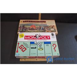 "Board Games - Vintage ""Ploughshares"" (A Co-operative Adventure Game) & ""Monopoly"""