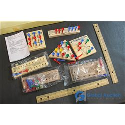 Tin Set of Wood Teasers Set & Wooden Labyrinth Games
