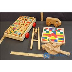 Variety Of Wooden Blocks, & Toys