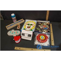 Variety Of Fun - Viewmaster w/Slides, Brain Teaser Puzzle, Pick Up Stick, Tin Of Magnetic Creations