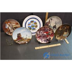 (6) Decorative Plates with Display Stands