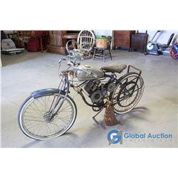 Approx 1946 Schwinn Wizzer Motorized Bicycle