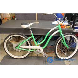 Single Green Adult Bike 41 x64