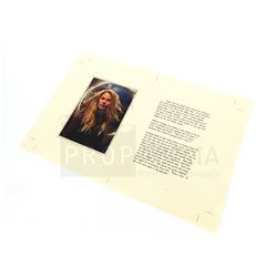 Once upon a Time - Prop Storybook Page Featuring Emma Swan (Jennifer Morrison) (1315)