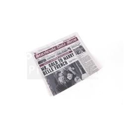 Once Upon a Time - Storybrooke Newspaper 'Mr Gold to Marry Bellle French' Prop (3204)