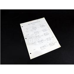 Near Dark - Gordon Smith's Cast List Prop (0003)