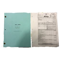 Hell Baby - A set used script, set of running orders for production & crime scene props