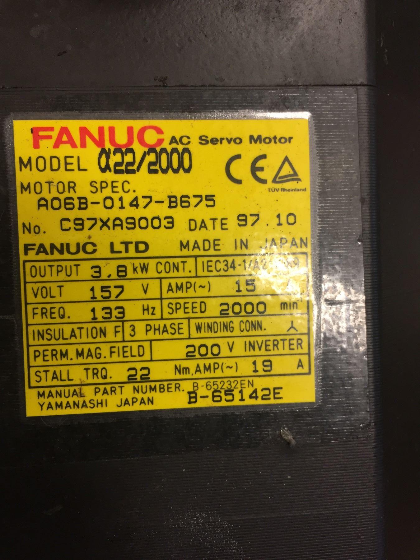 Fanuc A06B-0147-B675 AC Servo Motor