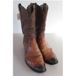 Lizard Tan Cowboy Boots