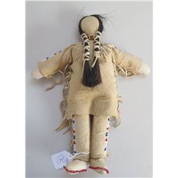 Fine Plains Deerskin Beaded Doll