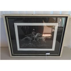 Framed Cowboy Picture