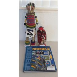 2 African Beaded Dolls