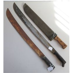 WWII 3 Blade Machete Collection