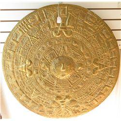 Giant Gold Wash Aztec Calendar