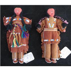 Pair of Plains Dolls