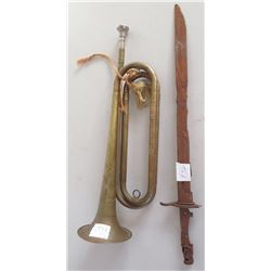 US Cavalry Trumpet & Bayonet