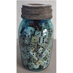 Full Quart Jar of Old Dice