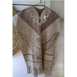 Leather Mexican Poncho
