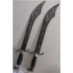 Matched Pair of Mexican Swords