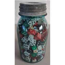 Quart Jar of Old Dice