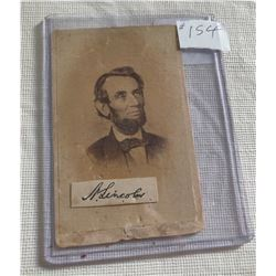 Abraham Lincoln Photo w/Signature
