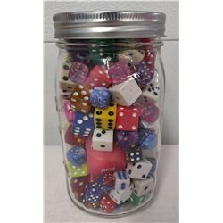 Full Quart Jar of Old Dice