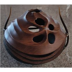Maori Carved Inlaid Vase