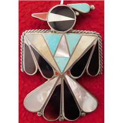 Zuni Inlaid Thunderbird Pin or Pendant