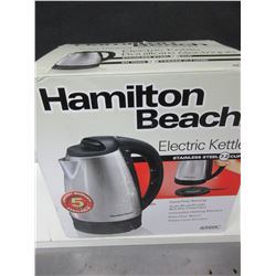 New Hamilton Beach Electric Kettle Stainless Steel 7.2 cup cord free serving
