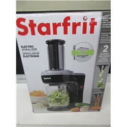 New Strarfrit Electric Spiralizer 2 blades inc. / quick easy to use & clean