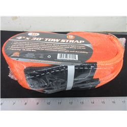 New 4 inch x 30 foot 9 Ton 18,000lb Tow Strap / will not rot or tear
