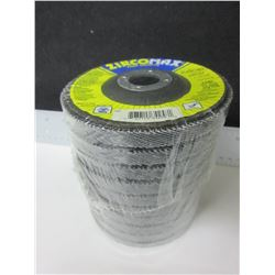 "New Case of 10 ZircoMax high density 4 1/2"" Flap Disks 80 grit 12,000rpm"