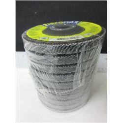 "New Case of 10 ZircoMax high density 4 1/2"" Flap Disks 80 grit 12,000rpm"