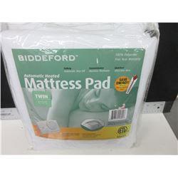 New Twin Automatic Heated Mattress Pad / Auto shut off machine wash