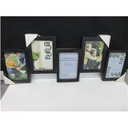 "New Picture Frame with 5 picture openings 4 x6"" ea"