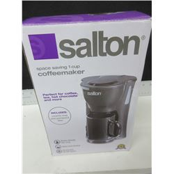 New Salton 1 Cup Coffeemaker / includes ceramic Mug & permanent filter